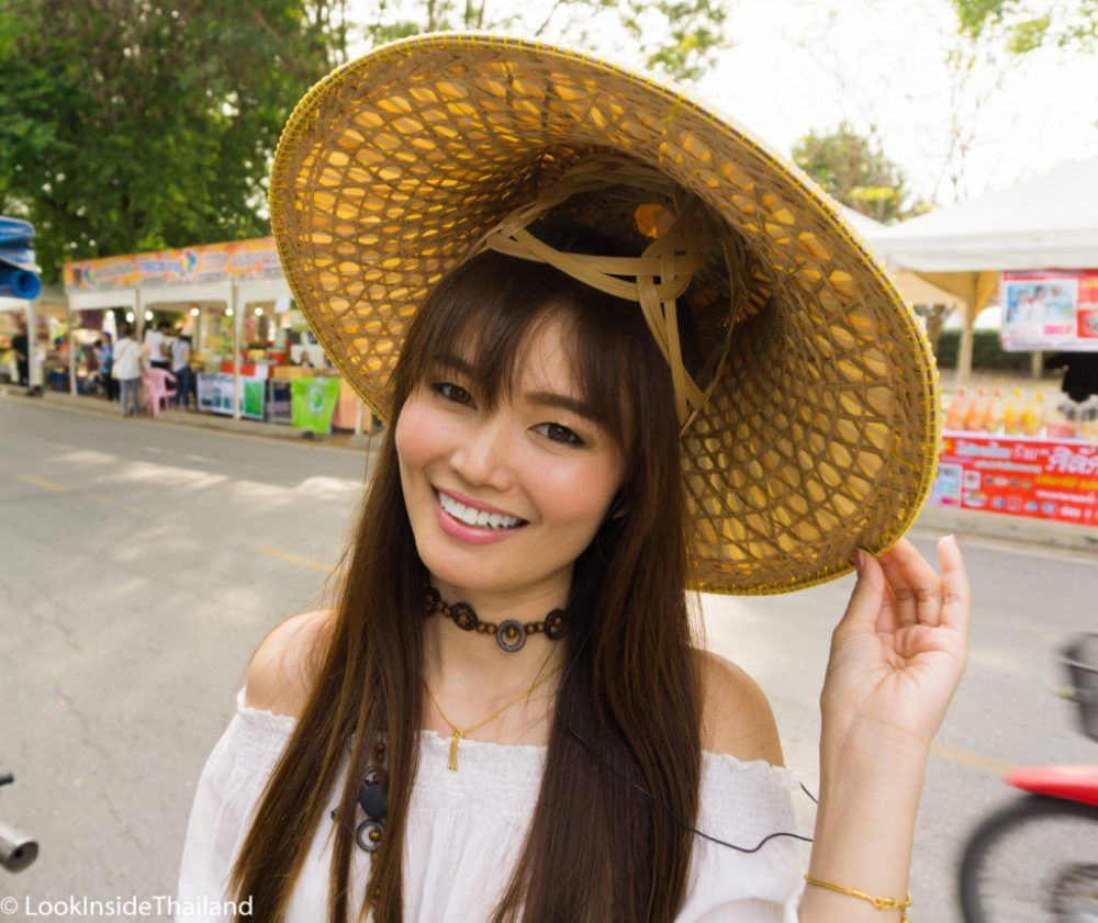 Namfon Look Inside Thailand wearing a Thai Hat