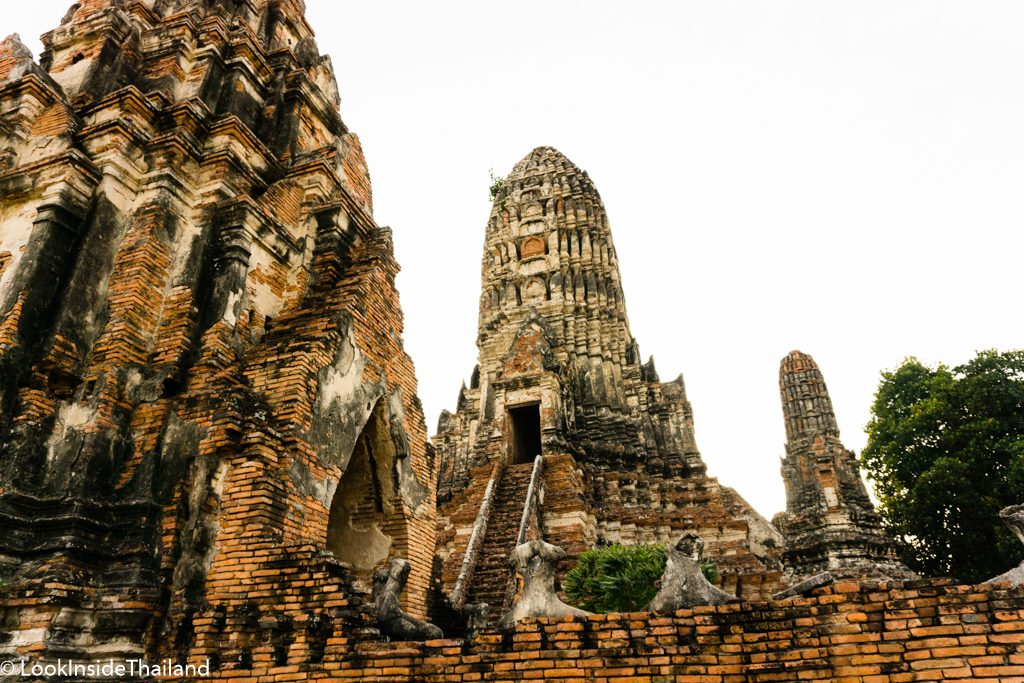 Ancient temples in Ayutthaya Thailand